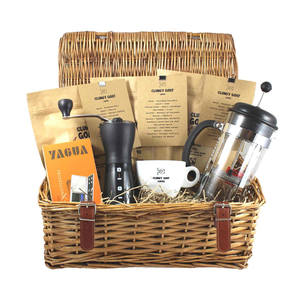 Clumsy Goat Cafetiere Deluxe Coffee Bean Gift Hamper