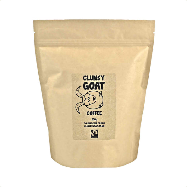 Clumsy Goat Fairtrade Colombian Coffee Beans - 100% Arabica