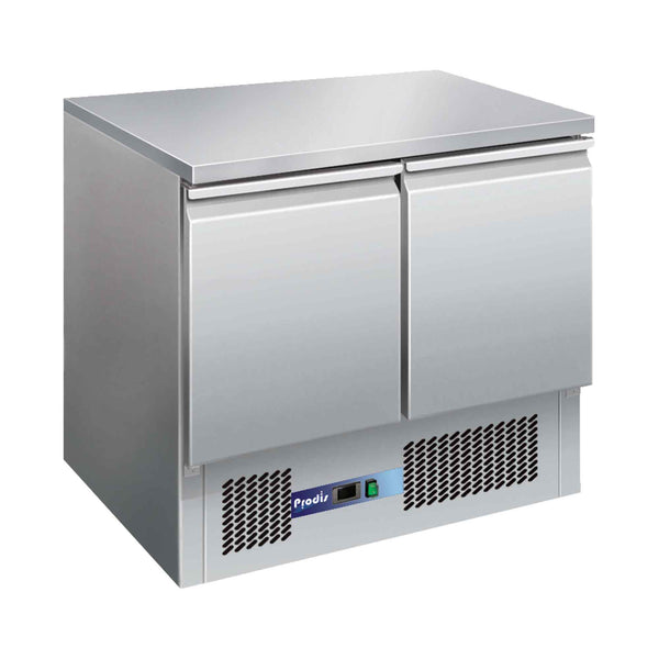 Prodis EC-2SS 2 Door Compact Saladette Counter, Flat Top