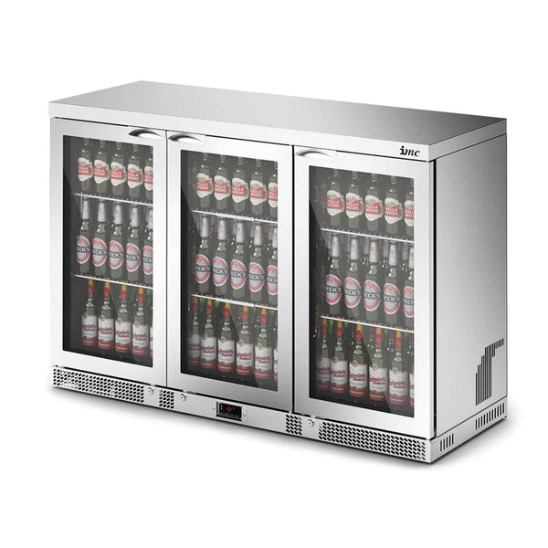 Lincat IMC Mistral M135 Bottle Cooler [Front Load] - Glass Door - 800mm H