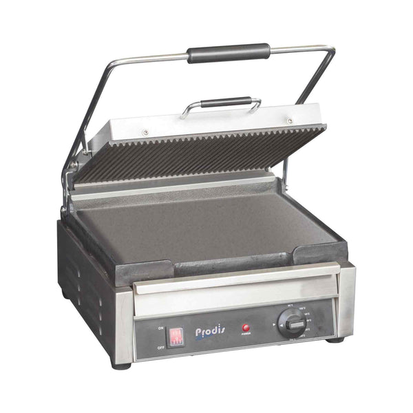 Prodis FCG1, Single Contact Grill, Ribbed Upper, Smooth Lower Plates