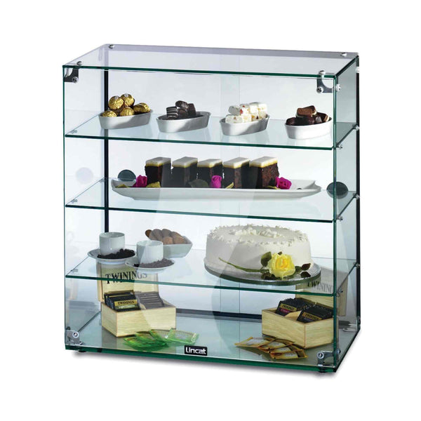 Lincat Seal Glass Display Case - Rear Sliding Doors - 645h x 607w x 350d  - GC46D