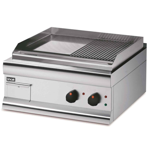 Lincat Silverlink 600 Half Ribbed Extra Power Twin  Zone Griddle 5.6kw - Electric - 600w x 620d x 330h - GS6/TR/E