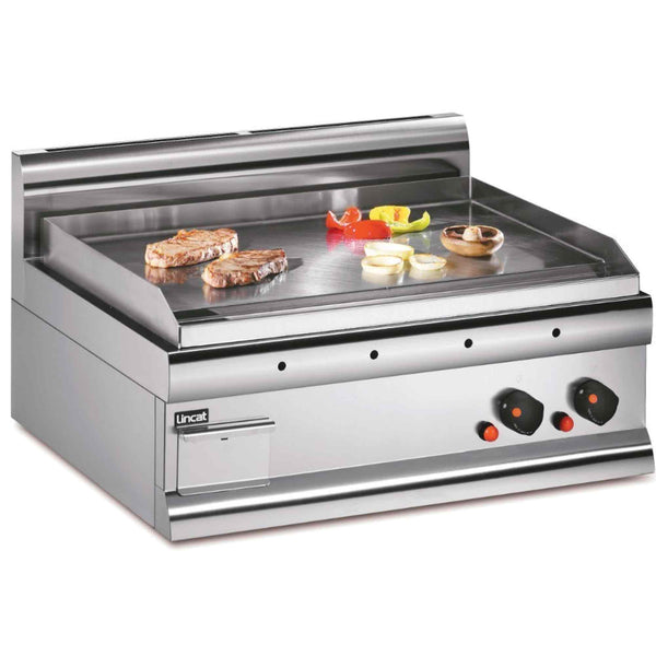 Lincat Silverlink 600 Steel Griddle 7.5kw - Natural Gas - 750w x 650d x 415h - GS7/N