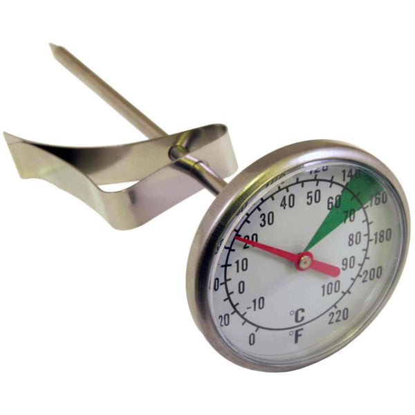 Motta Small Milk Jug Thermometer - Dual Dial - 5 Inch
