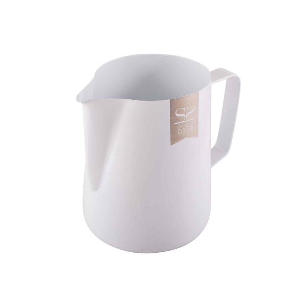 Espresso Gear Teflon Coated Milk Foaming Jug - White - 600ml