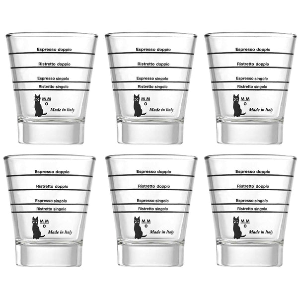 Motta Graduated Espresso Shot Glass - Pack of 6
