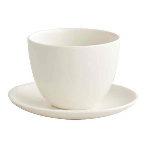 Kinto Pebble Cup and Saucer - White - 180ml - 6oz
