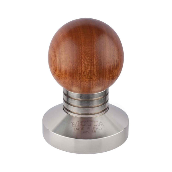 Motta Bubble Wooden Tamper - Stainless Steel Base - 58mm