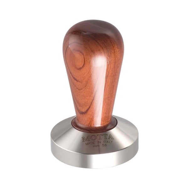 Motta Bubinga Wooden Tamper - Stainless Steel Base - 58mm