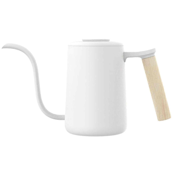 Timemore Pouring Kettle - White With Wooden Handle - 700ml