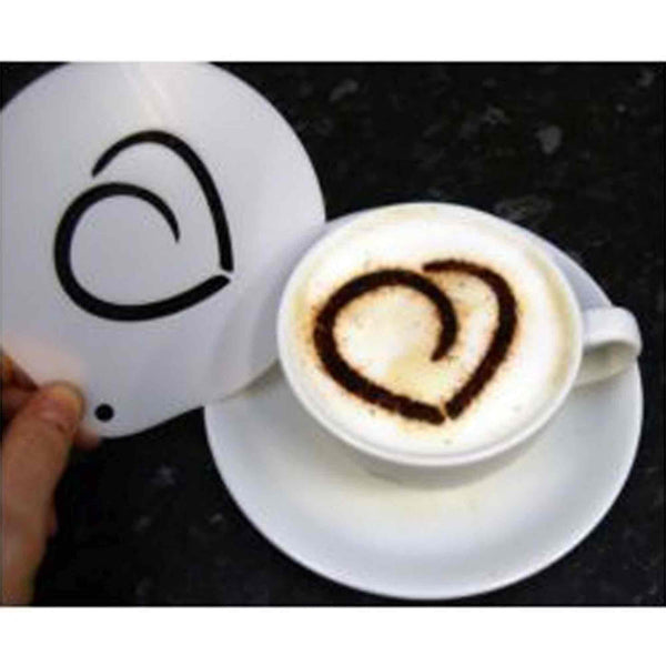 Rounded Heart Hot Chocolate Coffee Stencil