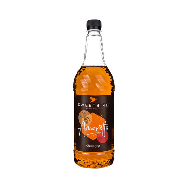 Sweetbird Amaretto Coffee Syrup - 1 Litre Bottle