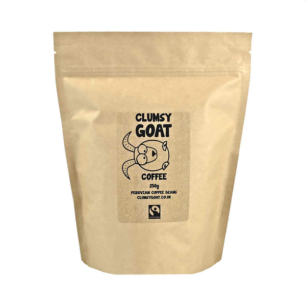 Clumsy Goat Fairtrade Peruvian Coffee Beans - 100% Arabica