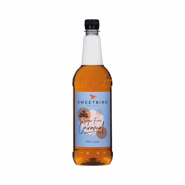 Sweetbird Sugar-Free Caramel Coffee Syrup - 1 Litre Bottle