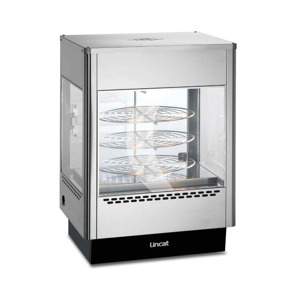 Lincat Seal Heated Merchandiser - Rotating Rack - Two Door - 783h x 562w x 562d  - UM50D