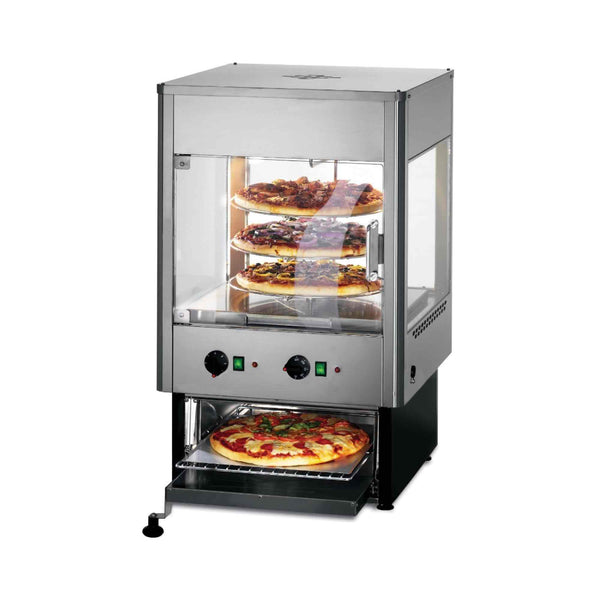 Lincat Seal Heated Merchandiser - Rotating Rack With Oven - Two Door - 925h x 562w x 562d  - UMO50D