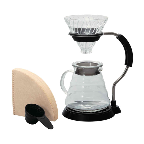 Hario V60 02 Glass Arm Stand Gift Set - 4 Cup