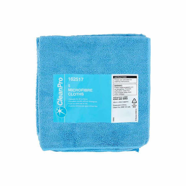 Microfibre Cleaning Cloths - Pack of 5
