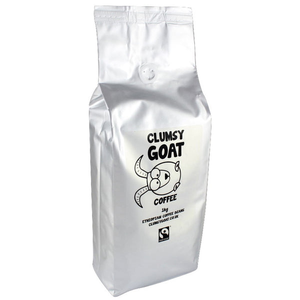 Clumsy Goat Fairtrade Ethiopian Sidamo Coffee Beans - 100% Arabica
