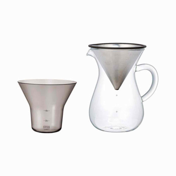 Kinto SCS-04-CC-ST Carafe Set 600ml - Stainless Steel
