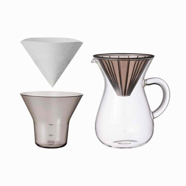 Kinto SCS-04-CC-PL Carafe Set 600ml - Plastic Brewer
