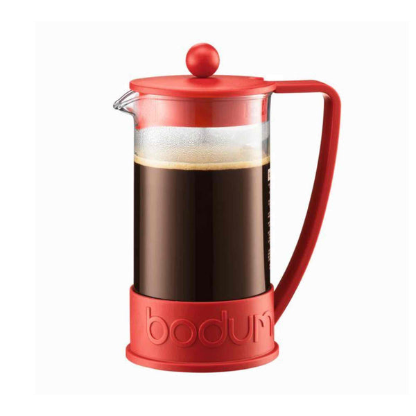 Bodum Brazil French Press Coffee Maker 1l - 8 Cup - Red