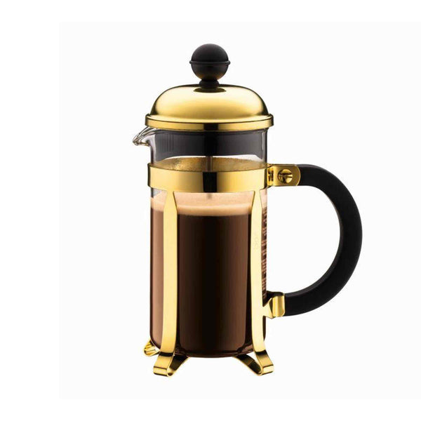 Bodum Chambord Coffee Maker 350ml - 3 Cup - Gold Plated