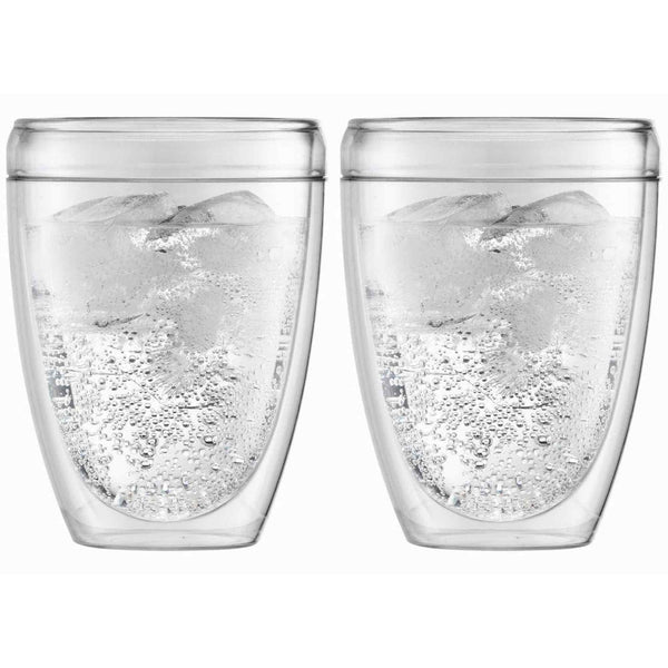 Bodum Pavina Plastic Double Wall Coffee Cup - 0.25l / 8oz - Pack of 2