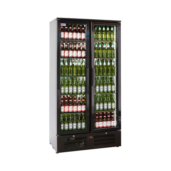 Prodis NT20-HC Double Door Black Finish Upright Bottle Cooler