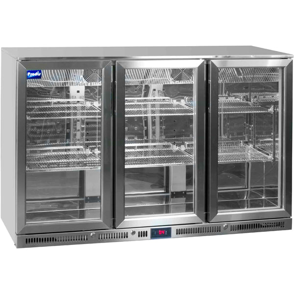 Prodis NT3ST-HC Stainless Steel Triple Door Bottle Cooler