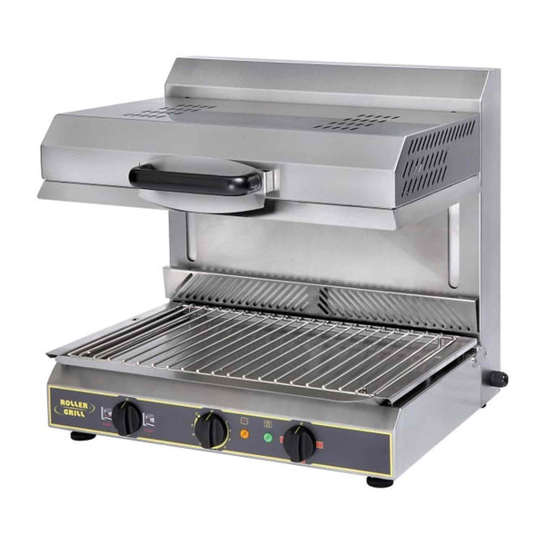 Roller Grill Ceramic Salamander Grill with Plate Detection System - Electric - 600w x 590d x 590h (mm) SEM600PDS-