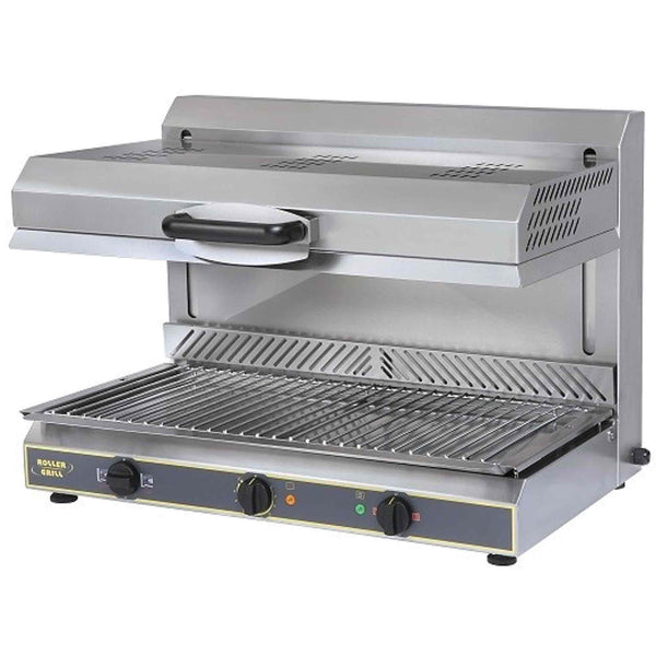 Roller Grill Ceramic Salamander Grill with Plate Detection System - Electric - 800w x 590d x 590h (mm) SEM800PDS-