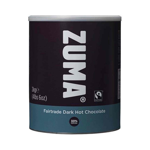 Zuma Fairtrade Dark Premium Hot Chocolate 33% Cocoa 2kg Tin