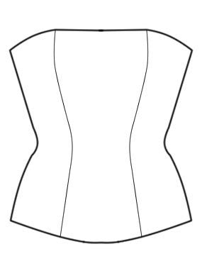 Pattern: Corset in a Simplified Technique, Pattern, Corset Academy