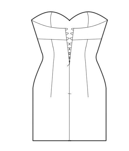 eBook: Dress with Separately Cut Cups, eBook, Corset Academy