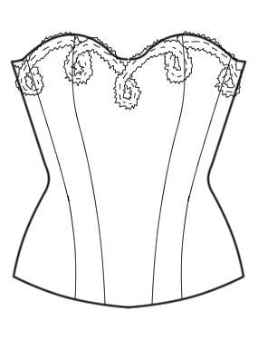 Pattern: Corset with Quilted Cups, Pattern, Corset Academy