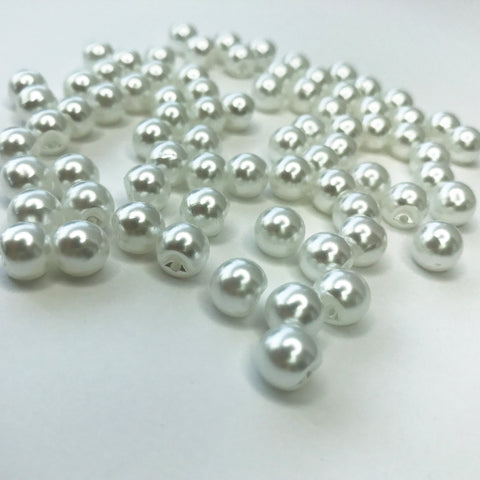 White Elegant Pearl Buttons, Supplies, Corset Academy