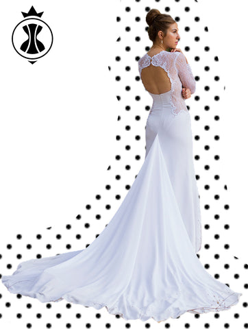 Pattern: Wedding Dress with Sleeves