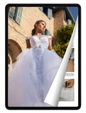 eBook: Wedding Dress with Detachable Full Skirt