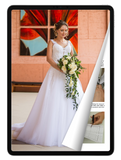 eBook: Classic Wedding Dress with Lace Straps