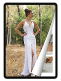 eBook: Halter-Neck Wedding Dress with Removable Sleeves