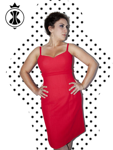 Pattern: Plus Size Dress with Hidden Lacing