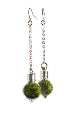 Terrarium Heart Earrings