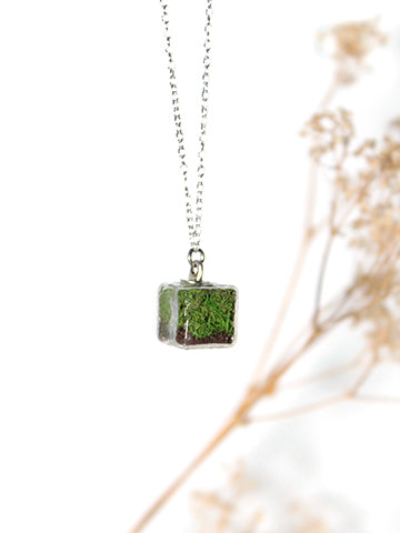 Cube Terrarium Necklace
