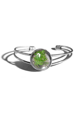 Cuff Bracelet with Moss