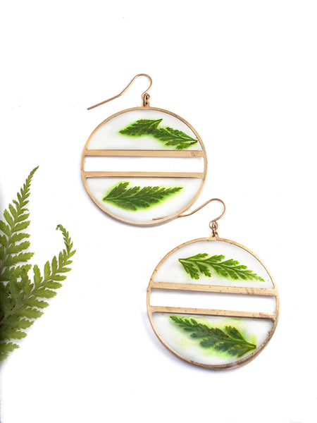 EcoResin: Brass Divide Earrings