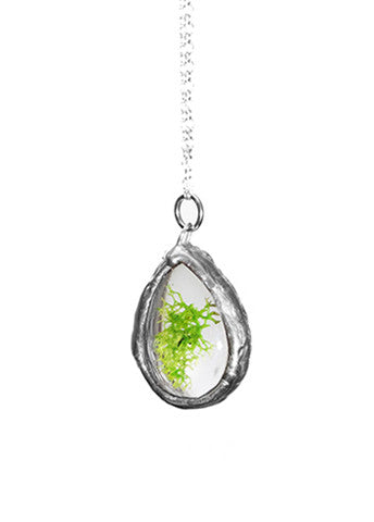 Teardrop Necklace Silver