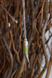 Tusk Terrarium Necklace Silver