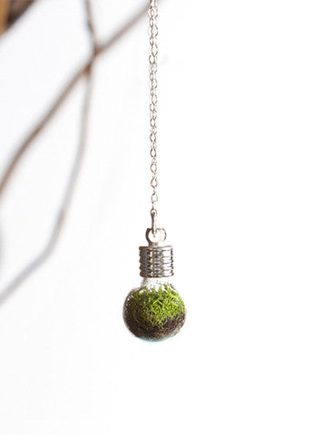 Terrarium Globe Necklace Silver